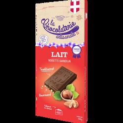 Tablette de chocolat au lait noisette Gianduja LA CHOCOLATERIE ARTISANALE, 100g