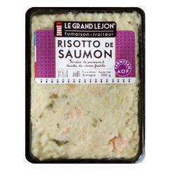 Risotto aux 2 saumons et poireaux, LE GRAND LEJON, barquette 300g
