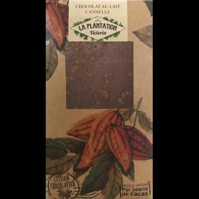 Chocolat au lait cannelle, LA PLANTATION BOVETTI, tablette de 80g