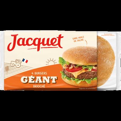 Géant burger brioché JACQUET, x4 soit 300g