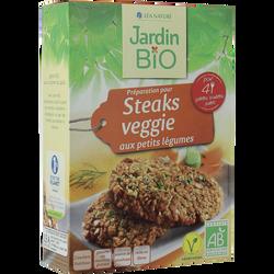 Préparation pour steaks végétariens légumes bio JARDIN BIO 200g