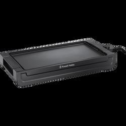 Plancha RUSSEL HOBBS 22550-56 2400w-plaque amovible-grande surface decuisson 45x25cm-thermostat réglable et amovible-jusqu'a 230°c-réservoir à jus amovible/compatible lave-vais.