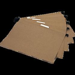 Dossier suspendu avec index, format 21x29,7cm, pour tiroir, en Kraft naturel, 5 unités