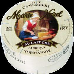 Petit camembert au lait cru 22% de MG, MARIE HAREL, 150g