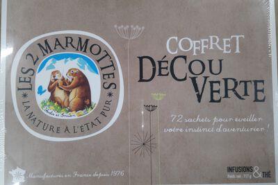 COFFRET DECOUVERTE 72SC INFU &THES LES DEUX MARMOTTES