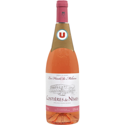 Vin rosé AOC Costières de Nîmes Les Hauts de Mélaine U, 75cl