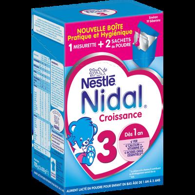Nidal croissance 3, aliment lacté poudre dès 1 an NESTLE 2x350g