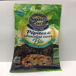 Pépites de chocolat noir BIO, SAINTE LUCIE, 125g