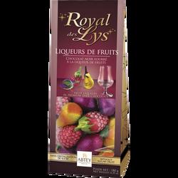 Chocolats fourrés liqueurs de fruits royal des lys ABTEY, x18 soit 180g