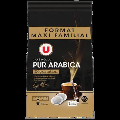 Café pur arabica dégustation U, dosettes x56, 392g