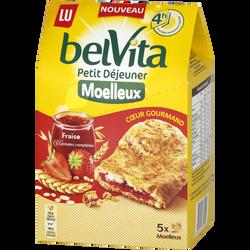 Belvita moelleux coeur gourmand fraise LU, 250g