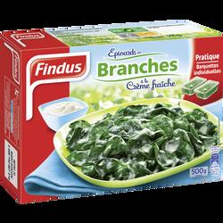 Epinards en branches à la crème fraîche FINDUS, 500g