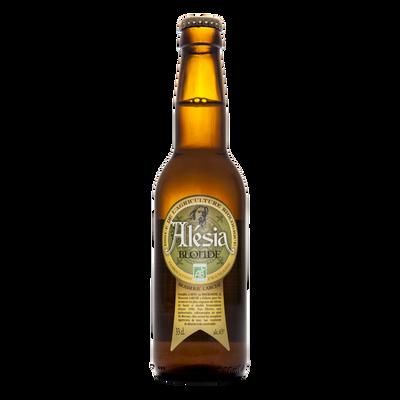 Bière blonde sans gluten bio ALESIA 6.5°, bouteille de 33cl