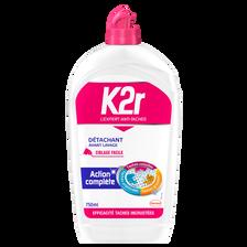 Détachant avant-lavage liquide ciblage facile K2R, flacon de 750ml