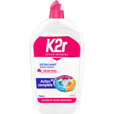 K2r Détachant Avant-lavage Liquide  Ciblage Facile, Flacon De 750ml