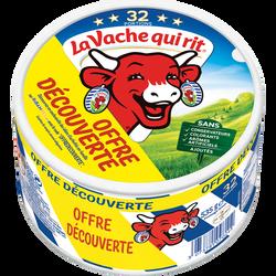 Fromage fondu pasteurisé 18,5% de matière grasse LA VACHE QUI RIT, x32soit 535g