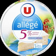 Fromage allégé au lait pasteurisé U, 5% de MG, 350g