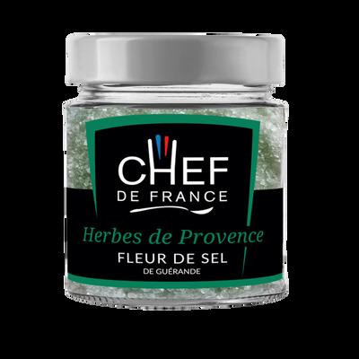 Fleur de sel de Guérande herbes de Provence CHEF DE FRANCE, pot de 90g