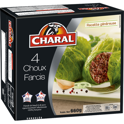 Choux farcis CHARAL, 4x165g