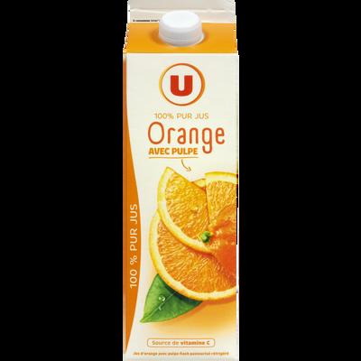 Pur jus d'oranges pressées U, 1l