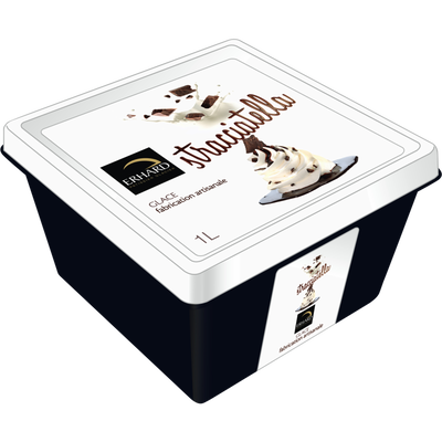 Crème glacée stracciatella, ERHARD, 560g.