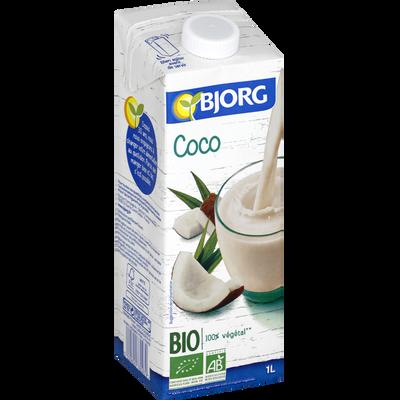 Boisson végétale bio coco BJORG, brique de 1 litre