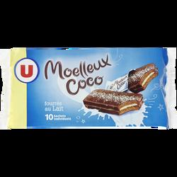 Gâteaux moelleux à la noix de coco fourré au lait U, paquet de 420g