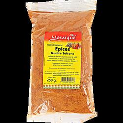 Quatre épices MOSAIQUE, sachet de 250g
