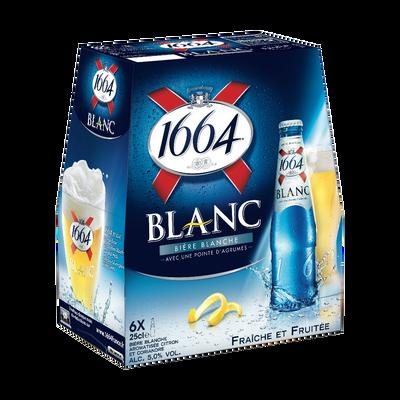 Bière blanche 1664, 5°, 6 bouteilles en verre de 25cl