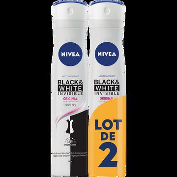 Nivea Déodorant Invisible Black & White Clear Nivea, 2x200ml