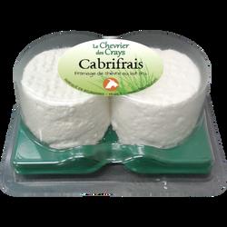 Cabrifrais duo fraîcheur au lait cru de chèvre, 12% de MG, 150g