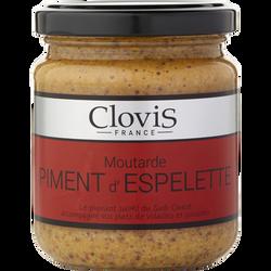 Moutarde au piment d'Espelette CLOVIS, 200g