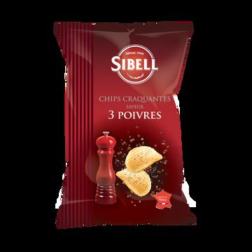 Sibell Chips Ondulées Saveur 3 Poivres Sibell, 120g