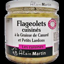 Flageolets à la graisse de canard et aux petits lardons ALAIN MARTIN,380g
