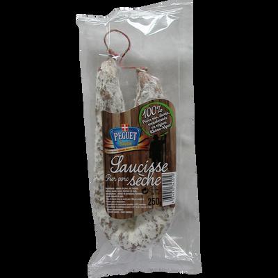 Saucisson sec de Savoie nature PEGUET, 250g