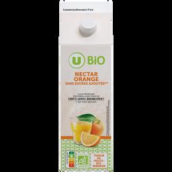 Nectar d'orange sans sucres ajoutés U BIO brique 1litre