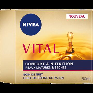 Nivea Soin De Nuit Confort+nutrition Nivea Vital, Pot De 50ml