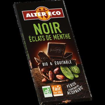 Alter Eco Chocolat Noir Bio À La Menthe Alter Eco, Tablette De 100g