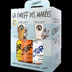 Coffret bière La Coreff des marées 4,6°, 6x33cl