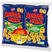 Monster Munch Chips Emmental Monster Munch Vico, 3x85g + 1 Offert