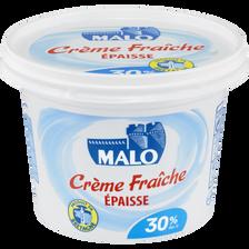 Crème fraîche épaisse, 30% de MG, pot de 20cl