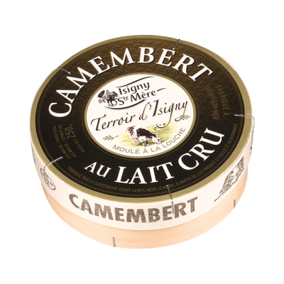 Fromage au lait cru Camembert ISIGNY Excellence, 22% de MG, 250g