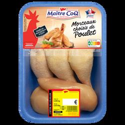 Cuisse + filet poulet jaune, MAITRE COQ, France, Barquette 980g