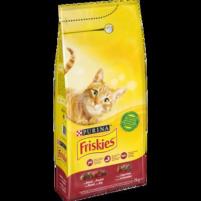 Croquettes pour chat adulte au boeuf et légumes Vital Heart FRISKIES,2kg