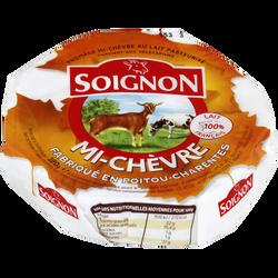 Fromage mi-chèvre au lait pasteurisé SOIGNON, 22%MG, Eurial 180g