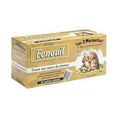 TISANE AU FENOUIL LES 2 MARMOTTES 35 SACHETS 60G