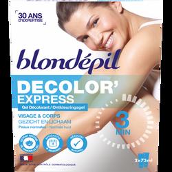 Gel décolorant visage et corps BLONDEPIL, 2x75ml soit 150ml