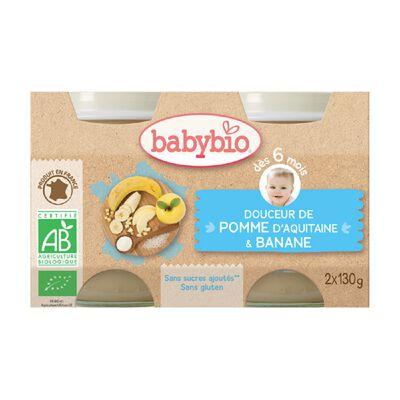 Pot Douceur Pomme Banane BABYBIO dès 6 mois 2x130g