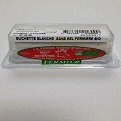 Bûchette de chèvre Blanche sans sel Fermière au lait cru de chèvre 14% MG BIO 200G