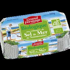 Beurre moulé bio au sel de mer, 80% de mg, GRAND FERMAGE, 250g